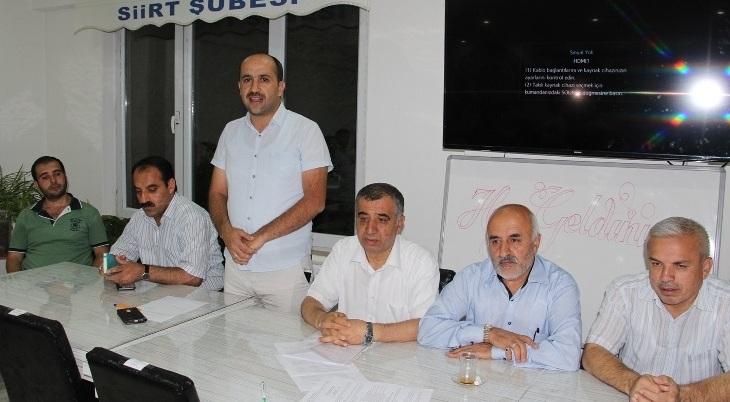 Memur-Sen Siirt İl Başkanlığına Murat Şeker seçildi